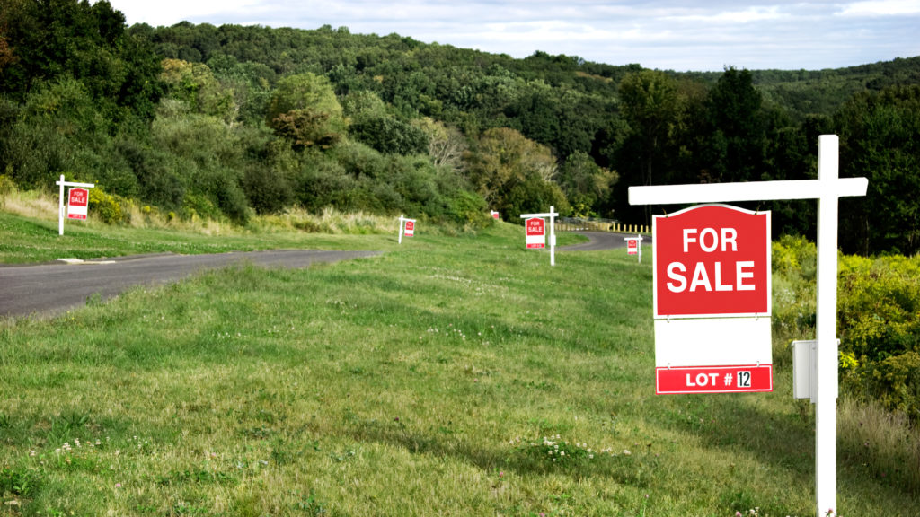 Data of customers to buy land plots