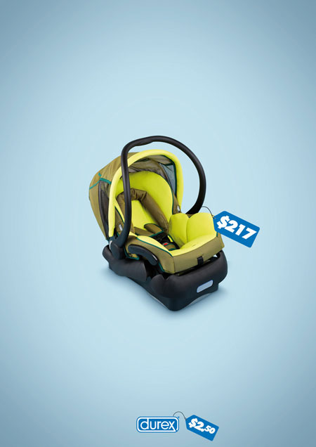 Synthesize the ads that are unlike anyone but extremely effective by Durex